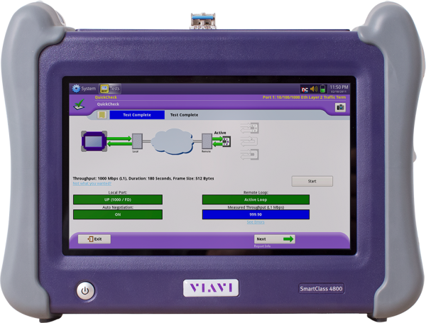 Viavi Smartclass SC4800 Network Meter Repair Services